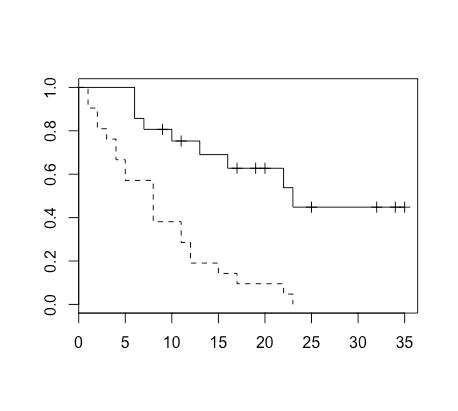 カプランマイヤー曲線の例