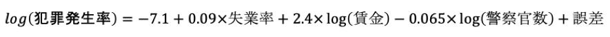 回帰分析では回帰式を思い浮かべる