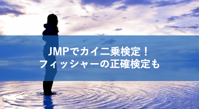 JMPでカイ二乗検定を実施する方法!フィッシャーの正確確率検定も